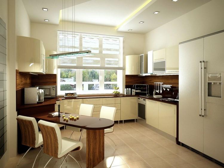 Кухонные потолки дизайн фото