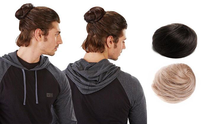 Новая модная тенденция: накладной пучок для мужчин