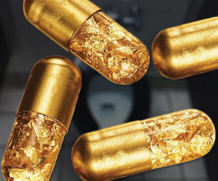 Золотая таблетка, которая заставляет испражняться золотом/