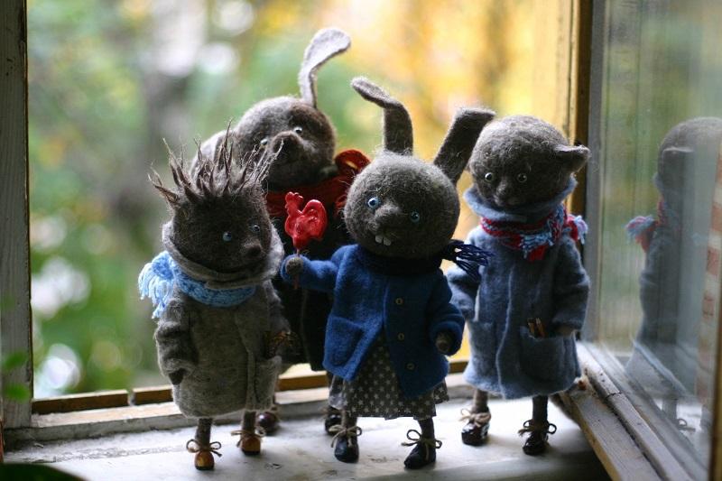 Игрушки из войлока Катерины Козуненко. Фото