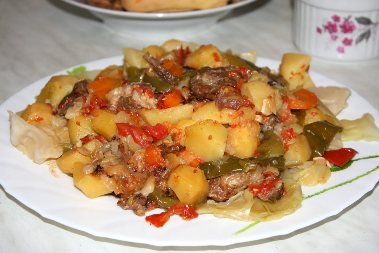 Рецепт димлама с курицей и яблоками