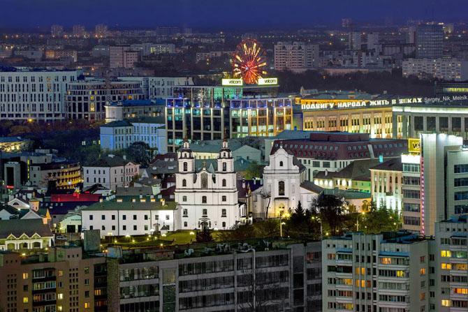 Вечерний Минск с высоты