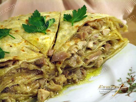Блины из теста варха с курятиной – рецепт с фото, марокканская кухня