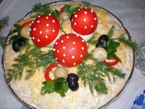 салат лесную поляну рецепт классический