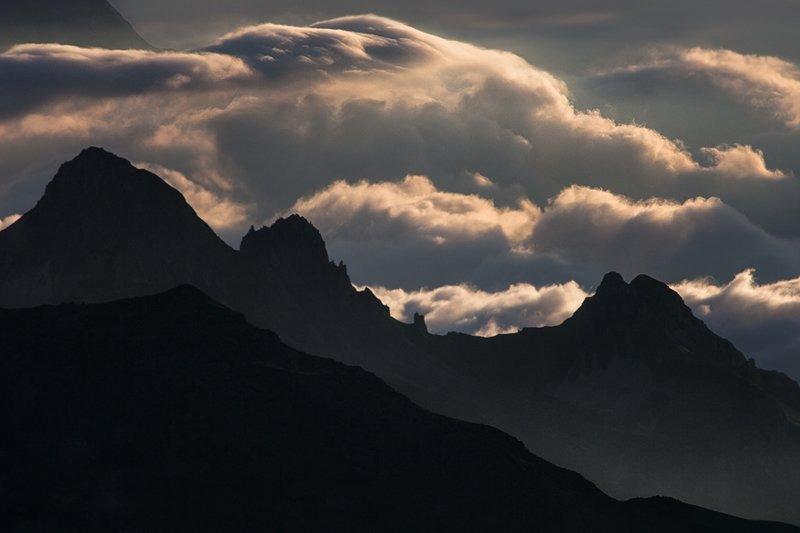 Горы в Верхних Альпах, Франция горы, красиво, небо, облака, природа, творчество, фото, фотограф