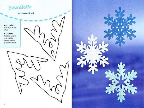 Трафареты снежинок своими руками из бумаги