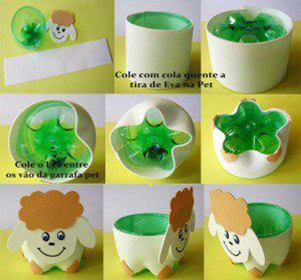 reciclado de botellas de plastico - muñequitos 4