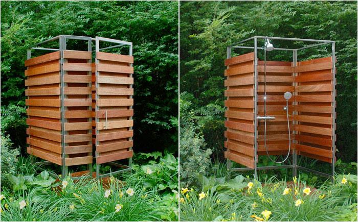 Деревянный садовый душ своими руками