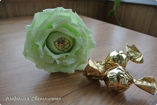 Мастер-класс Свит-дизайн Моделирование конструирование Роза для Колибри Бумага гофрированная фото 1