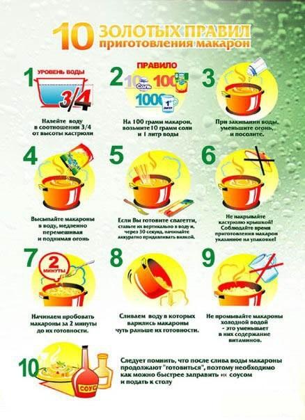 Как правильно варит макароны