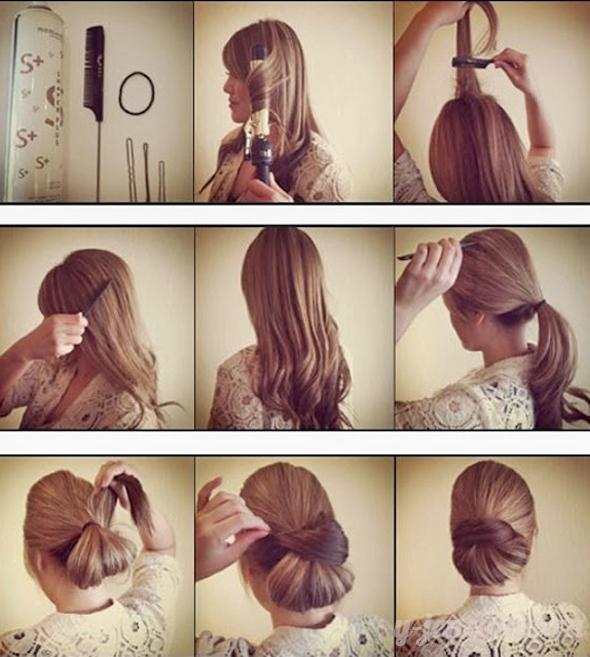 Сделать прическу на средние волосы своими руками