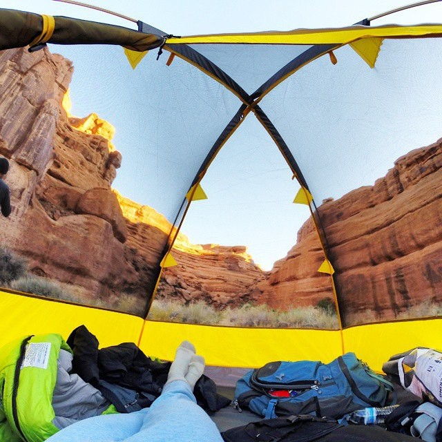 Виды из палаток