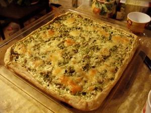 Лоранский пирог с баклажанами