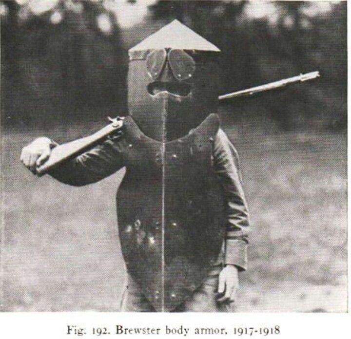 Броня Брюстера, один из первых бронежилетов, США, 1917–1918 знаменитости, история, редкие кадры, фото