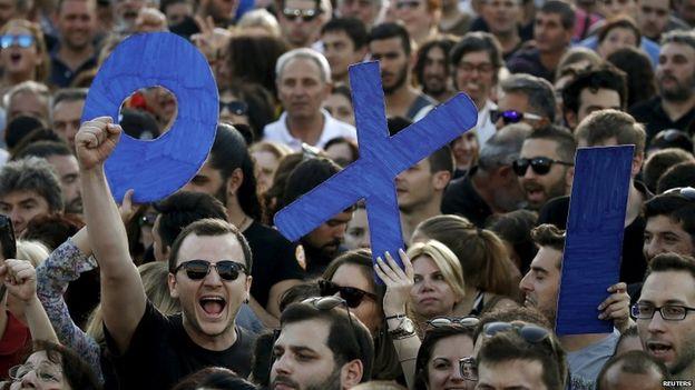 """Греческое """"OXI"""" - американское """"YES"""". Загнанных лошадей пристреливают."""