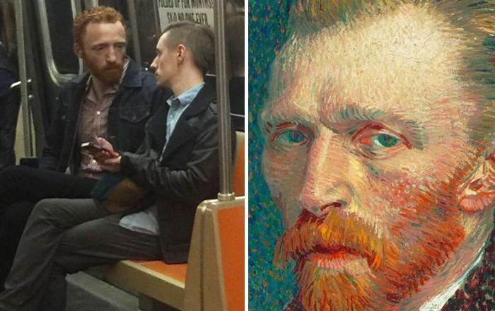 32. Винсент Ван Гог сегодня вещи, люди, похожие лица, схожесть