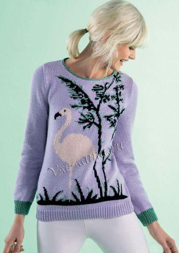 Пуловер с жаккардовым рисунком, фото модели