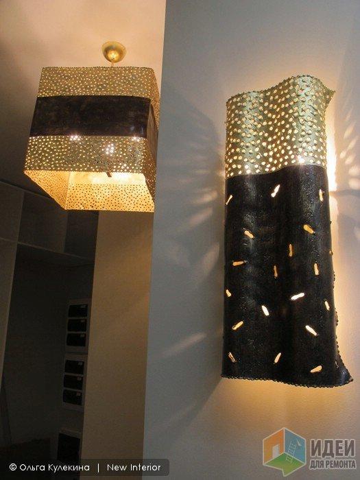 Современные светильники в интерьере, светильники в холле