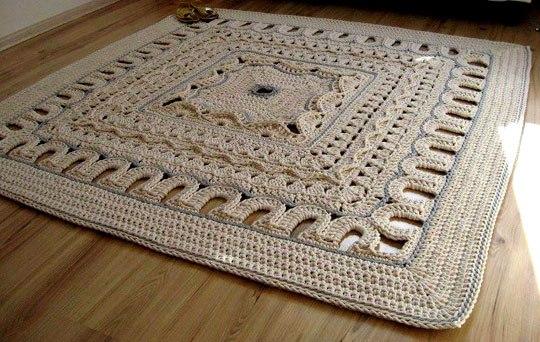 Вязаные ковры своими руками