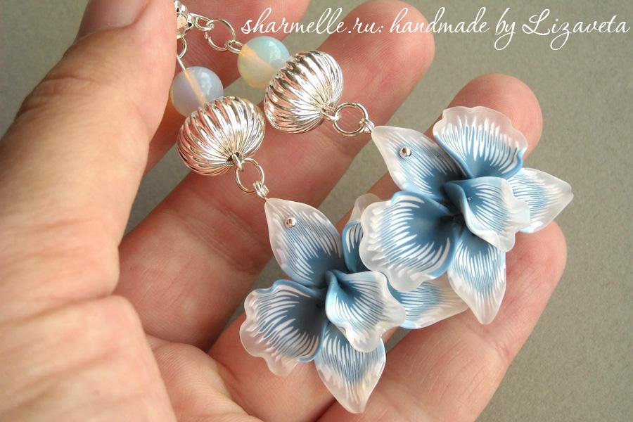 Орхидеи из полимерной глины