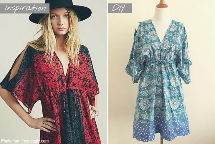 Очень простая выкройка стильного платья (Diy)
