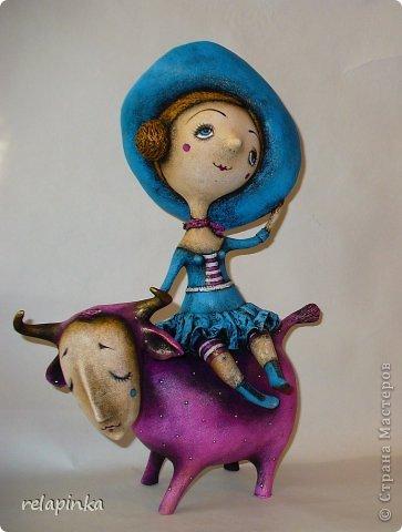 Куклы Папье-маше Муза и  поэт  Бумага фото 1