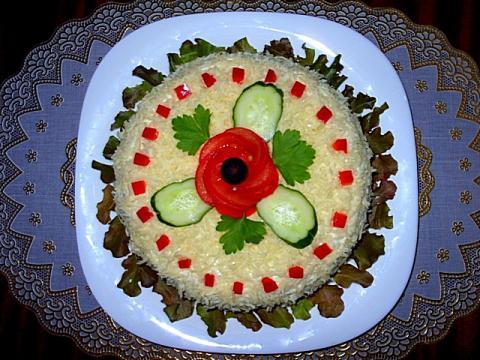 Идеи оформления салатов