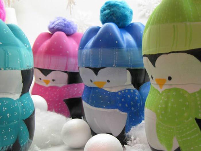 Пингвины поделки своими руками из пластиковых бутылок