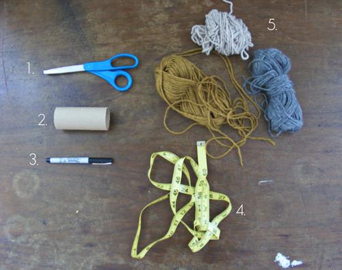 Как сделать шапку из ниток и бумаги