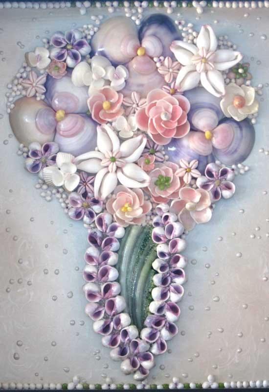 Цветы из ракушек своими руками видео мастер класс