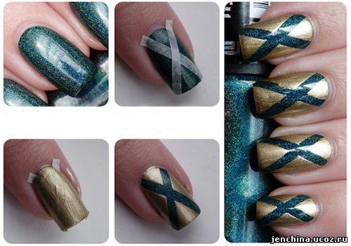 Как сделать рисунок на ногтях с помощью трафарета