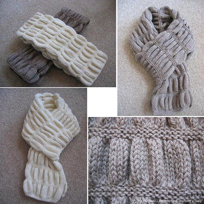 Вяжем шарф со сборками