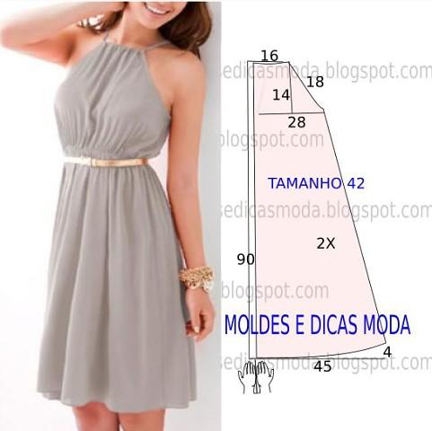 Простые выкройки платьев фото