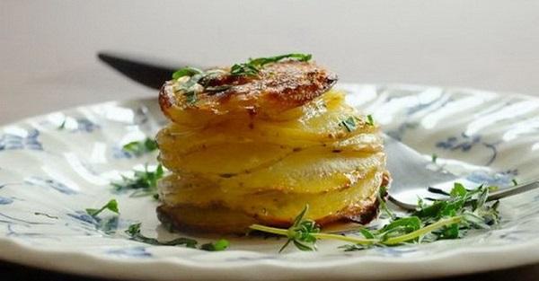 башенки из картофеля