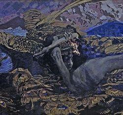 М. Врубель «Демон поверженный»