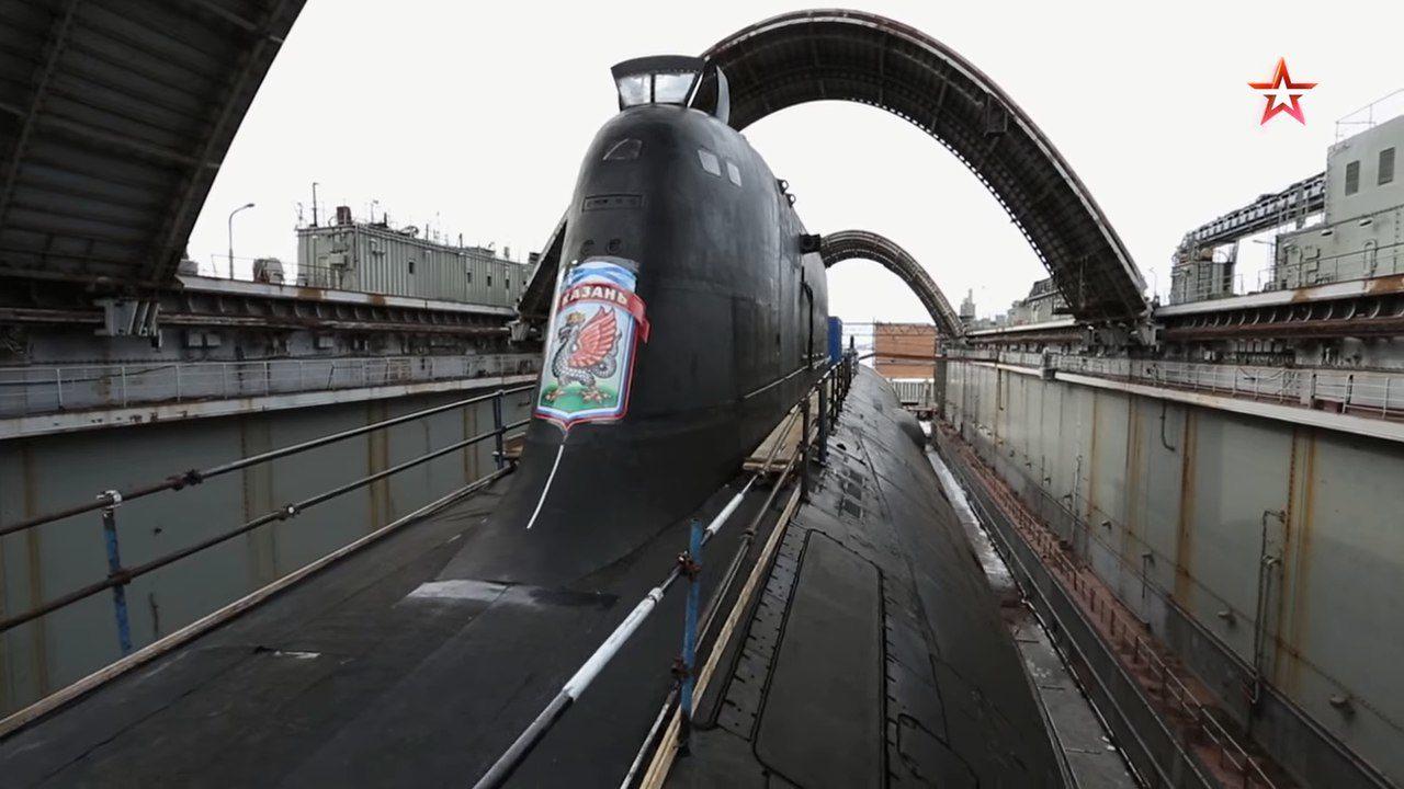 """Изображения атомного подводного крейсера """"Казань"""""""