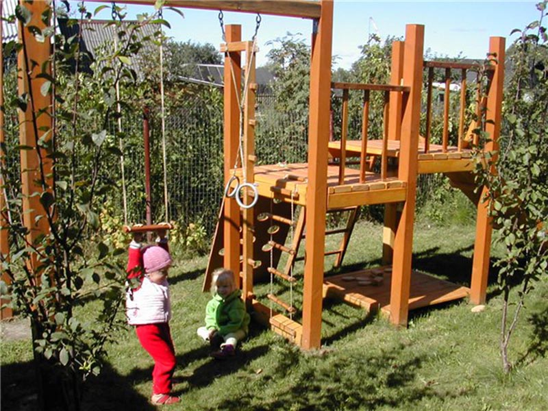 Детская игровая площадка своими руками фото