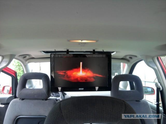 Телевизор в машину. Рукожопство.