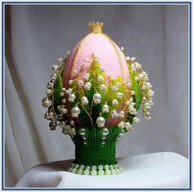 Яйцо пасхальное с ландышами! (мастер-класс)