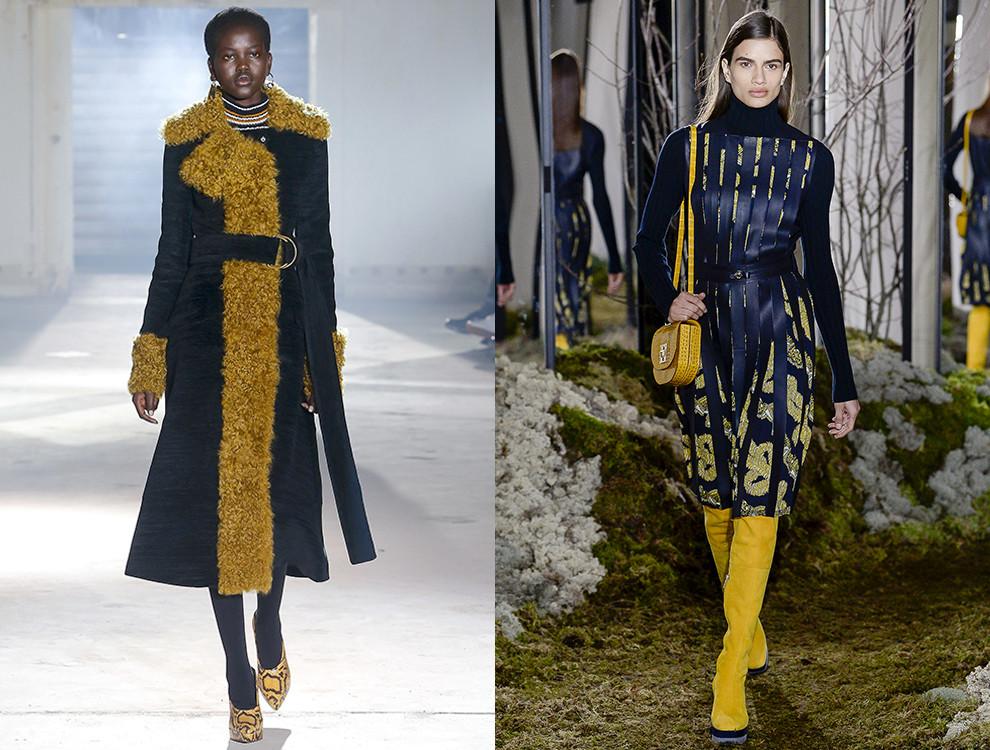 Черно-желтое сочетание — тренд будущей осени