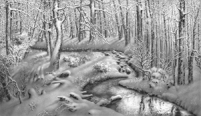 "Зима нарисованная карандашом (44 фото) "" БезФишки.нет - Страницы позитива"