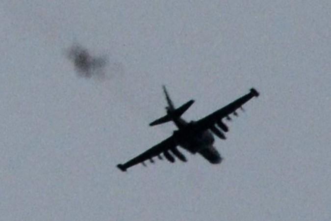 Ополченцы: Под Горловкой сбит Су-25