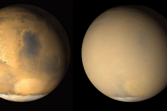 Робот НАСА заснял настоящий инопланетный шторм на Марсе