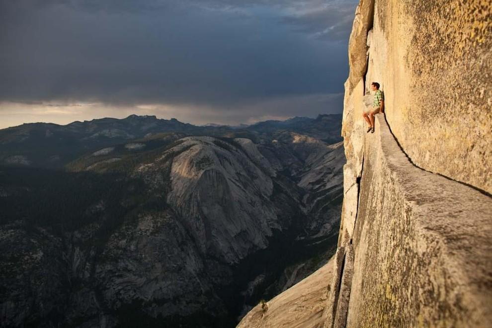 Алекс Хоннолд в Йосемитском парке. дух, страшно, фотографии