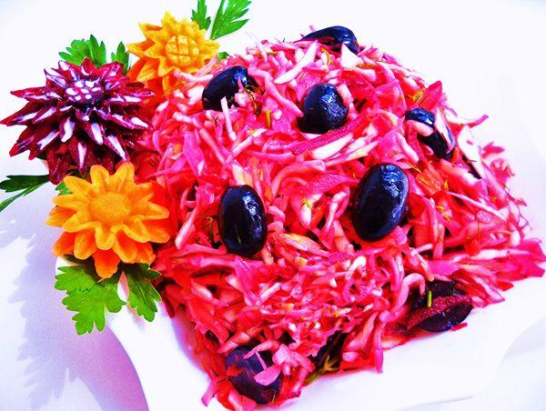 Украшения на салаты из овощей 87