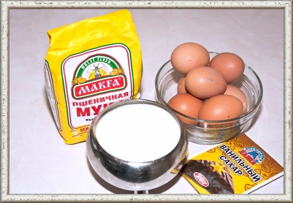 бисквит 2 яиц рецепт фото