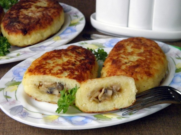Картофельные зразы с разными начинками
