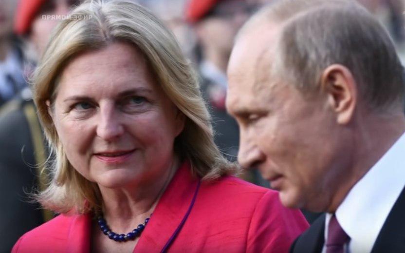 Путин прибыл в Грац на свадьбу главы МИД Австрии