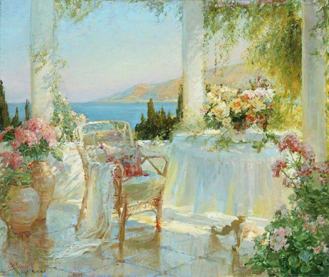 Картины маслом цветы