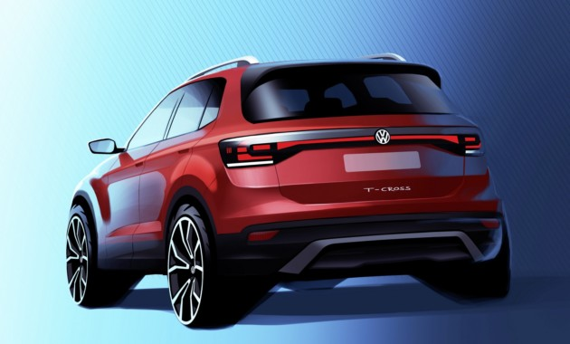 Бюджетный кроссовер Volkswagen T-Cross: официальные изображения